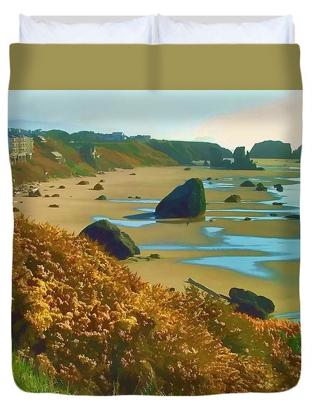 Blooming Bandon Watercolor Duvet Cover