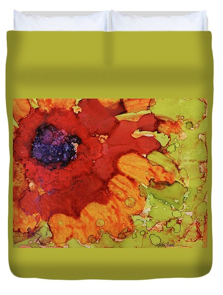 Blooming Cactus Duvet Cover by Cynthia Powell