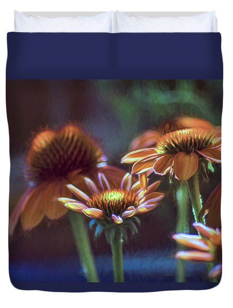 Duvet Cover featuring the photograph Blooming Colors by John Rivera