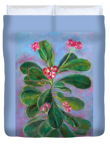 Blooming Crown Duvet Cover