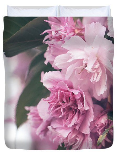Blooming Pink Duvet Cover by Rebecca Davis