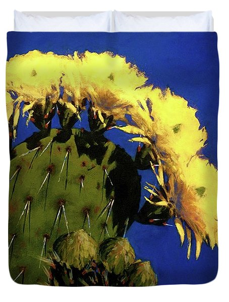 Blooming Prickly Pear Duvet Cover