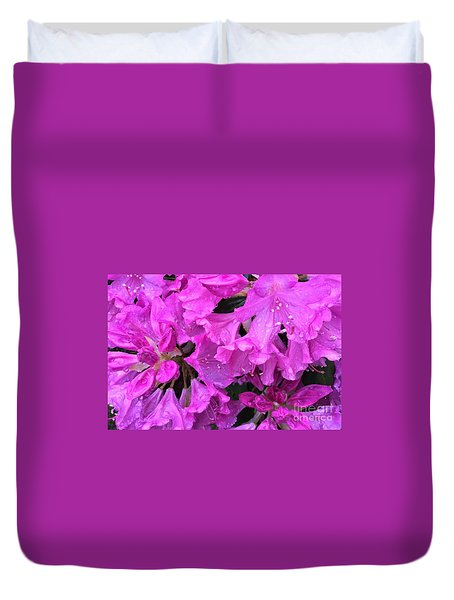 Blooming Rhododendron Duvet Cover
