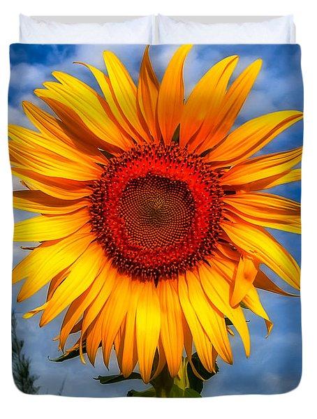 Blooming Sunflower  Duvet Cover