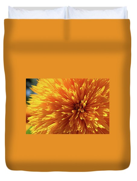 Duvet Cover featuring the photograph Blooming Sunshine by Marie Leslie