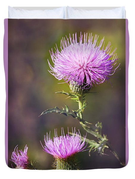 Blooming Thistle Duvet Cover