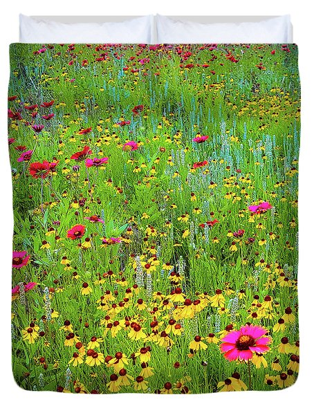Duvet Cover featuring the photograph Blooming Wildflowers by D Davila