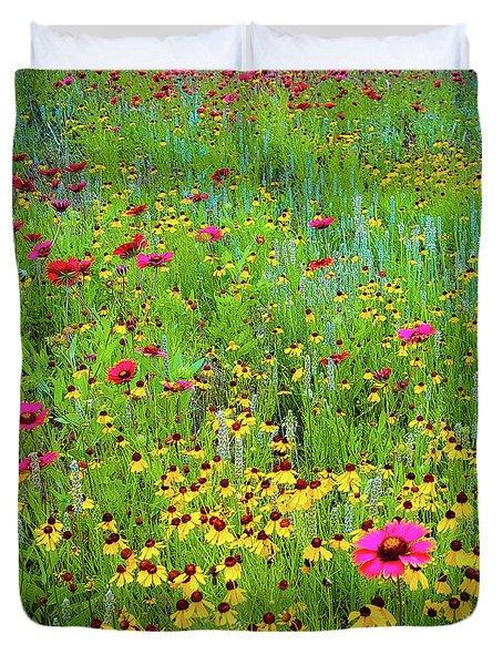 Blooming Wildflowers Duvet Cover