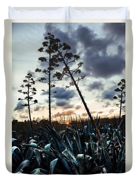 Blooming's Agaves Duvet Cover