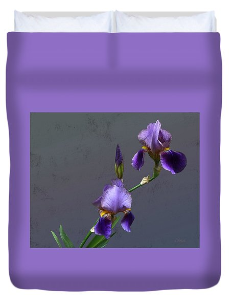Iris Blooms In May Duvet Cover