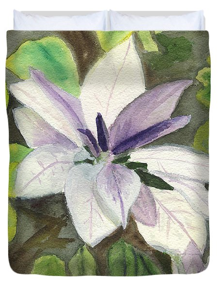 Duvet Cover featuring the painting Blossom At Sundy House by Donna Walsh