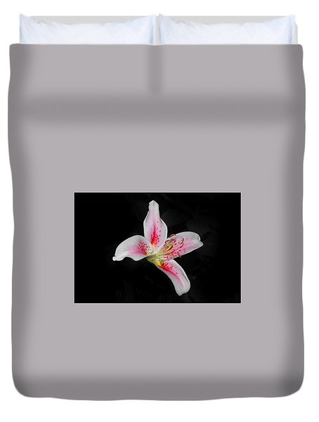 Blossom On Black Duvet Cover