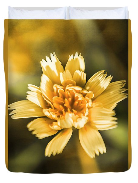 Blossoming Dandelion Flower Duvet Cover