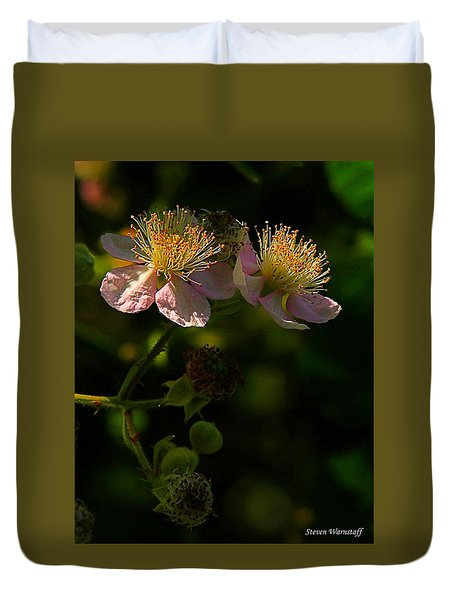 Blossoms 3 Duvet Cover by Steve Warnstaff
