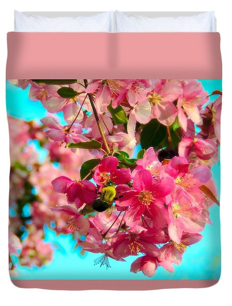 Blossoms And Bees Duvet Cover