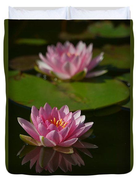 Blossoms And Lily Pads 9 Duvet Cover