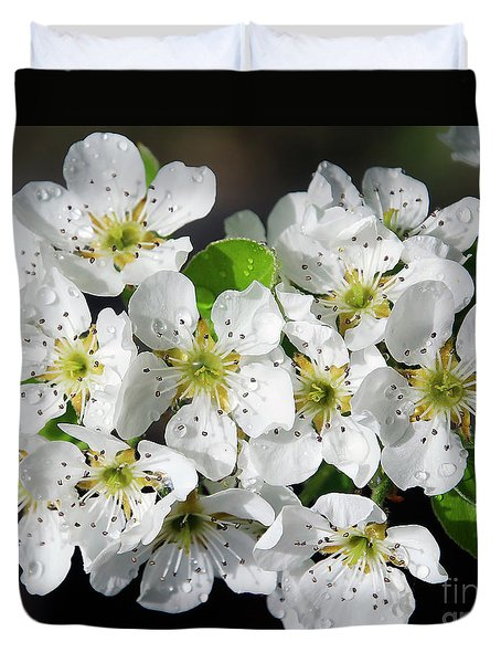 Duvet Cover featuring the photograph Blossoms by Elvira Ladocki