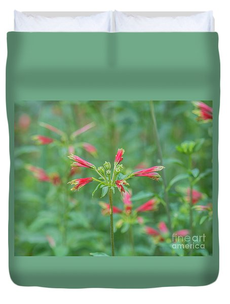Blossoms In The Green Duvet Cover