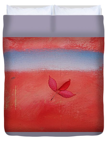 Duvet Cover featuring the painting Blow by Charles Stuart