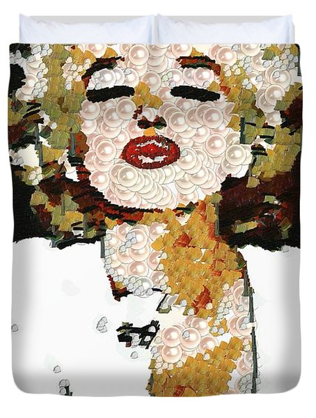 Blow Me A Kiss Marilyn Monroe In The Mix Duvet Cover