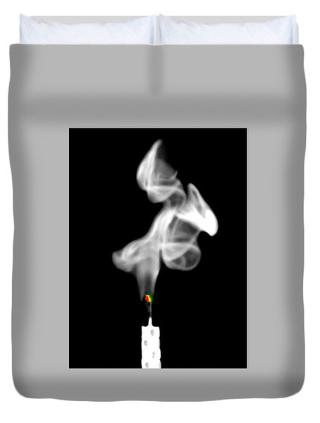 Duvet Cover featuring the photograph Blow Out by Diana Angstadt