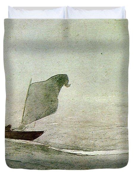 Blowen Away Duvet Cover by Winslow Homer