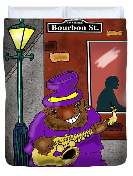 Blowin' On Bourbon Duvet Cover by Kev Moore