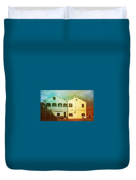 Duvet Cover featuring the photograph Blowing In The Wind by Anne Kotan
