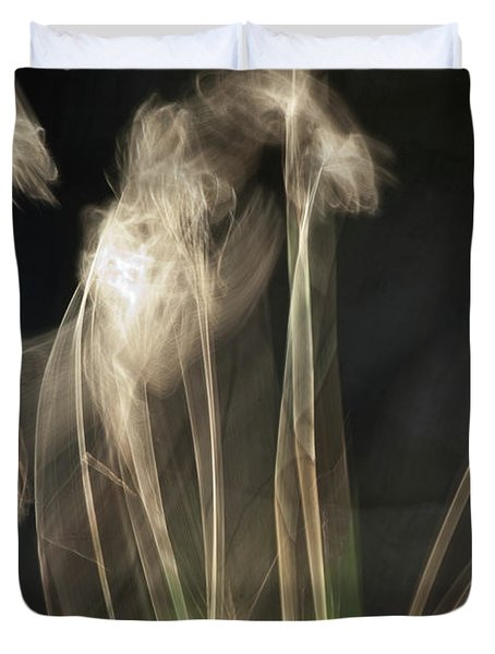 Duvet Cover featuring the photograph Blowing In The Wind by Roger Mullenhour
