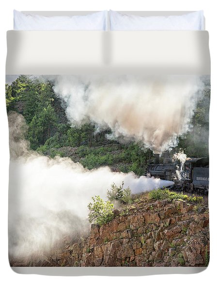 Blowing Off Steam Duvet Cover