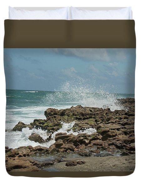 Blowing Rocks Preserve Jupiter Island Florida Duvet Cover