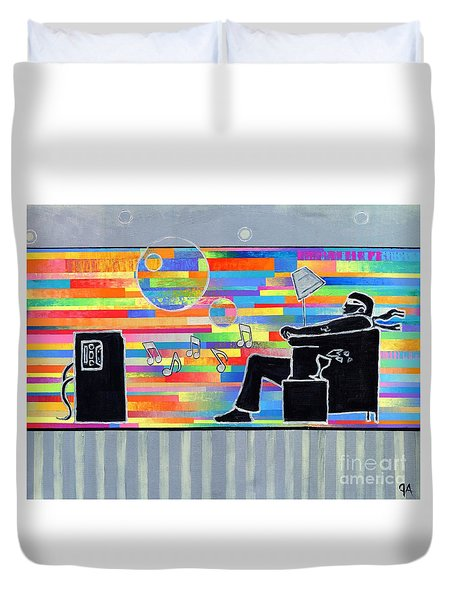 Blown Away Jeremy Style Duvet Cover