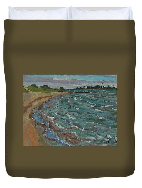 Blown Away Southampton Beach Duvet Cover
