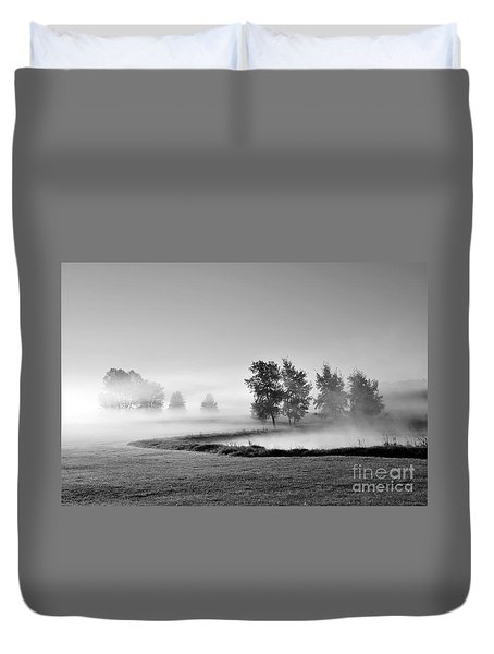 Duvet Cover featuring the photograph Blown Away by Terri Gostola