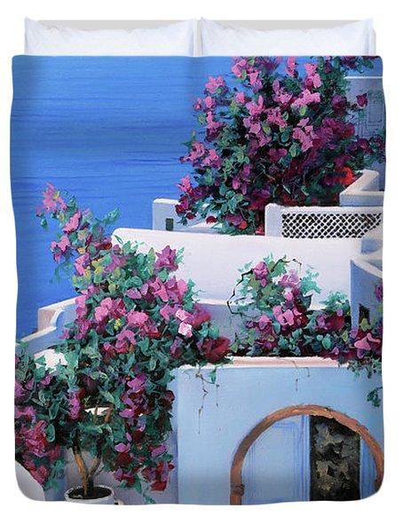 Blu Di Grecia Duvet Cover