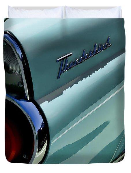 Blue 1955 T-bird Duvet Cover by Douglas Pittman