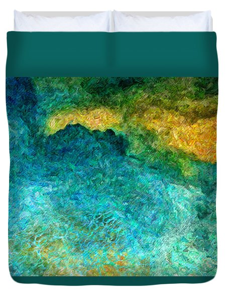 Blue Abstract #5 Duvet Cover