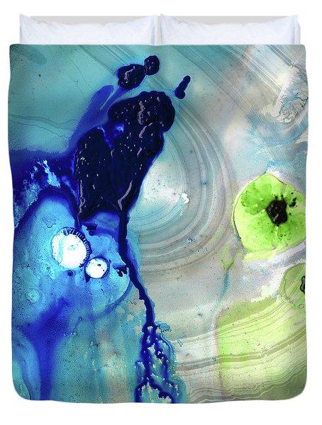 Blue Abstract Art - Reborn - Sharon Cummings Duvet Cover