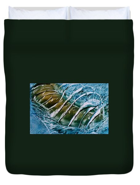 Blue Abstract Dark Ribbon Centre Duvet Cover