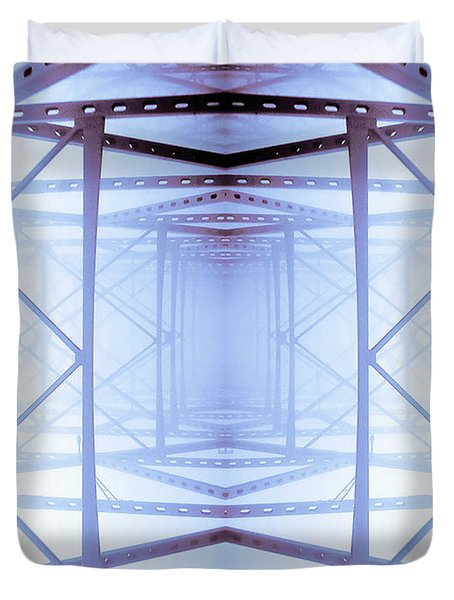 Blue Abstract Duvet Cover by Keith Allen
