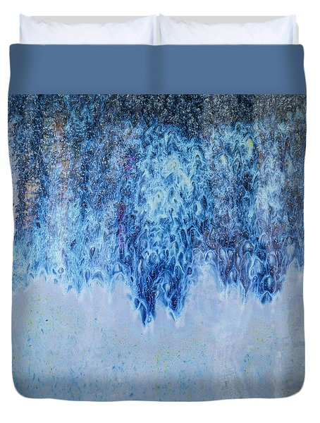 Duvet Cover featuring the photograph Blue Abstract One by David Waldrop