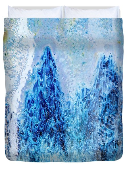 Duvet Cover featuring the photograph Blue Abstract Two by David Waldrop