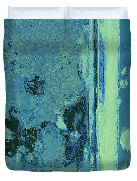 Blue Abstraction Duvet Cover