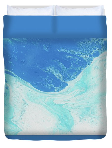 Duvet Cover featuring the painting Blue Abyss by Nikki Marie Smith
