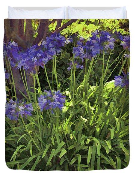 Blue Agapanthus Artistic I  Duvet Cover
