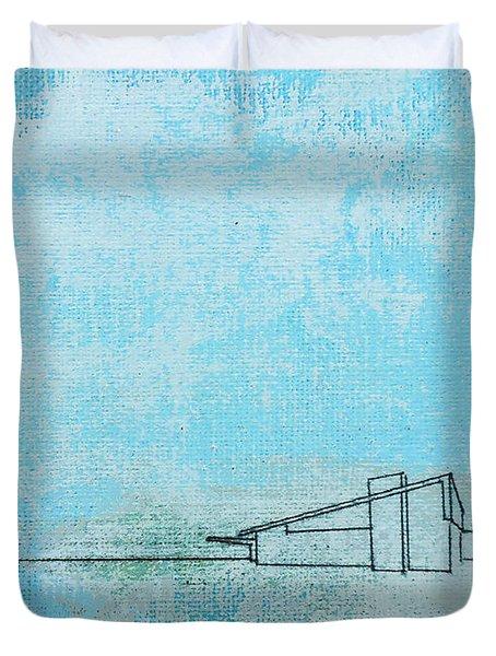 Blue Alexander White Mist Duvet Cover