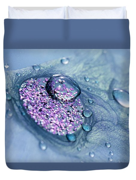 Blue And Purple Abstract Duvet Cover