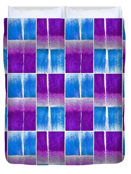 Blue And Purple Pattern Duvet Cover