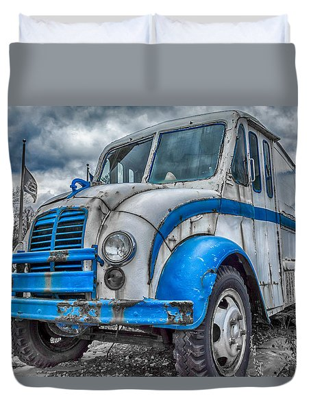 Blue And White Divco Duvet Cover