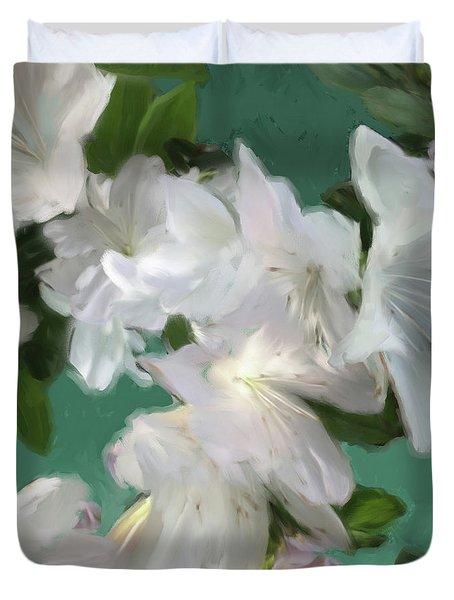 Blue And White Flower Art 3 Duvet Cover